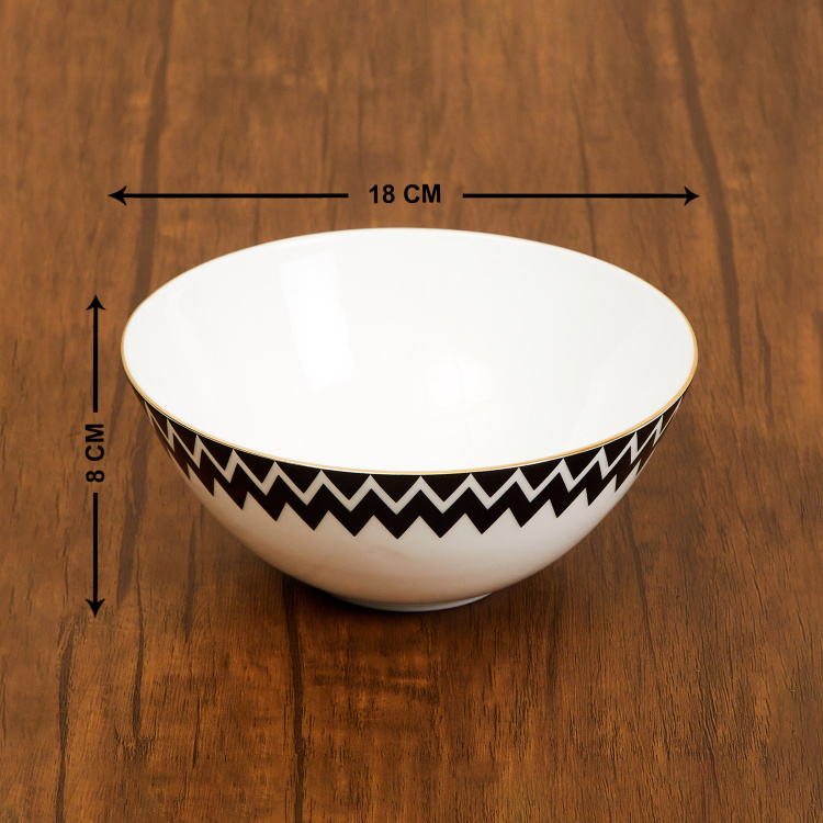 Charlie-Andrey Chevron Print Cereal Bowl