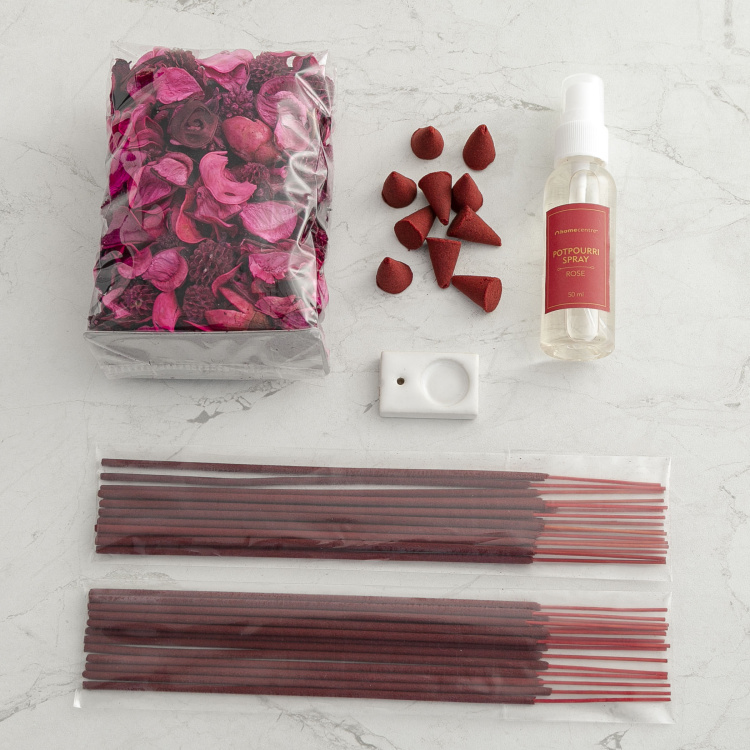 Shalimar Rose Incense Potpourri Gift Set
