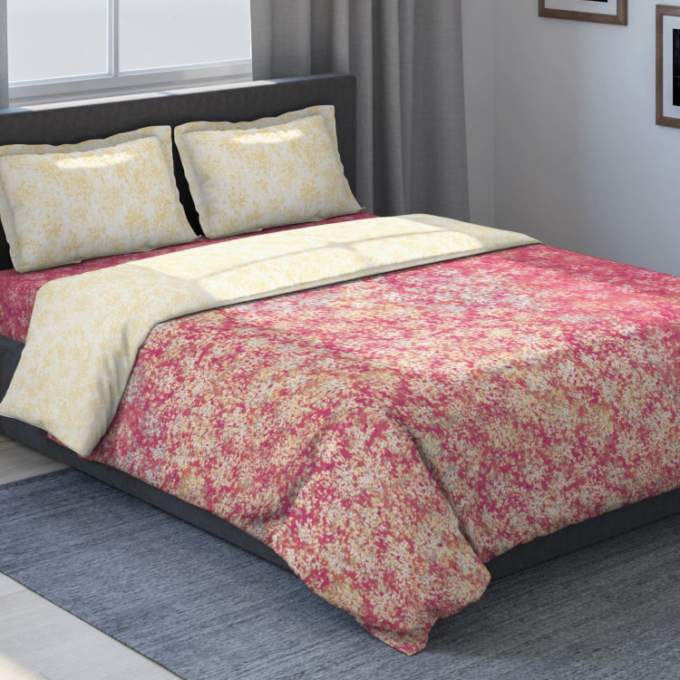 D'DECOR Classic Printed 4-Piece Bedsheet Set - 274 x 274 cm