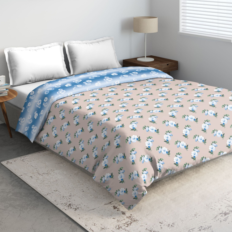 D'DECOR Classic Printed 3-Pc. King Size Bedsheet Set - 274 x 274 cm