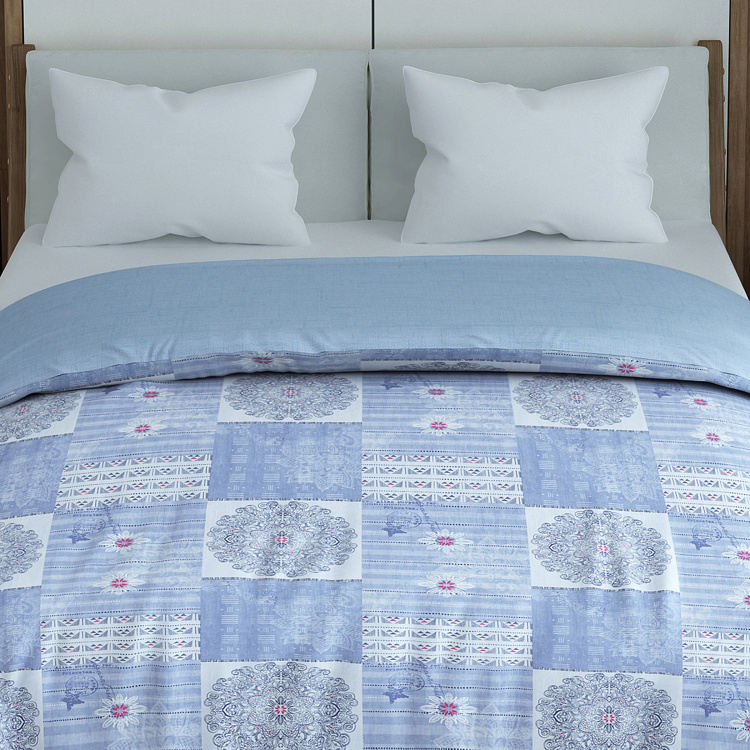 SPACES Geostance Printed Double Comforter - 224 x 270 cm