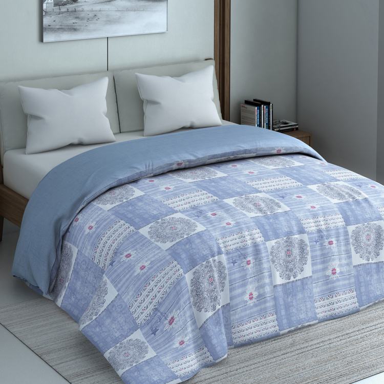 SPACES Geostance Printed  Double Bed Comforter - 224 x 270 cm