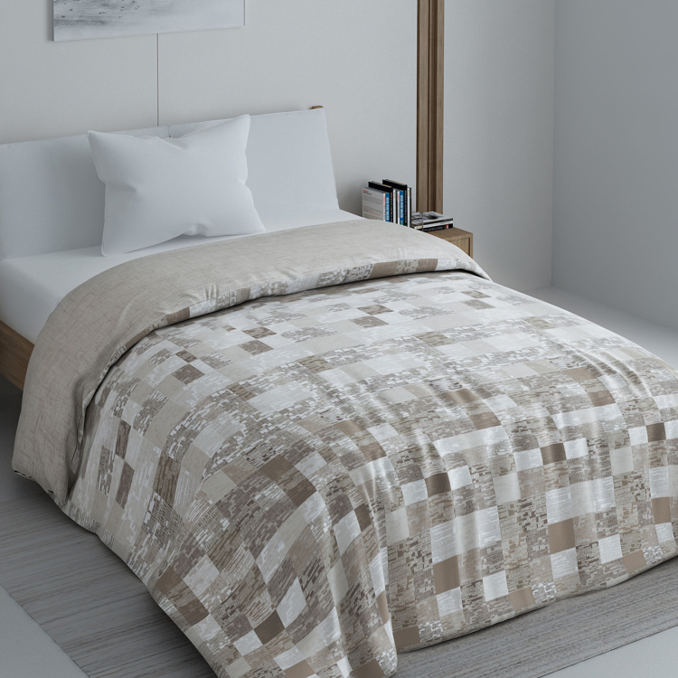 SPACES Geostance Printed Single Bed Comforter - 150 x 220 cm