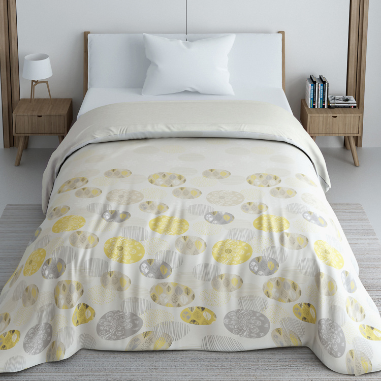 SPACES Geostance Printed Single Bed Comforter - 150 x 218 cm
