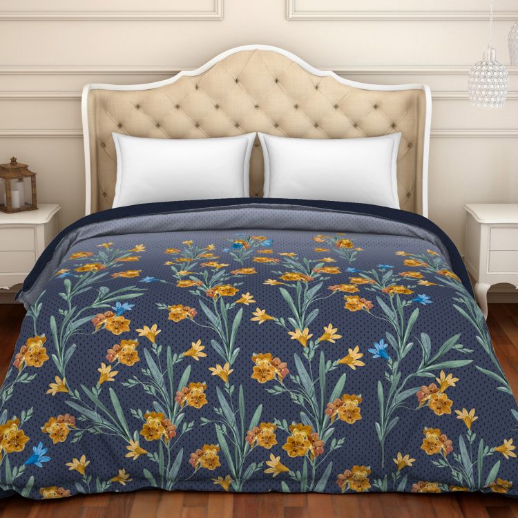 SPACES Noir Printed Double Bed Comforter - 224 x 270 cm