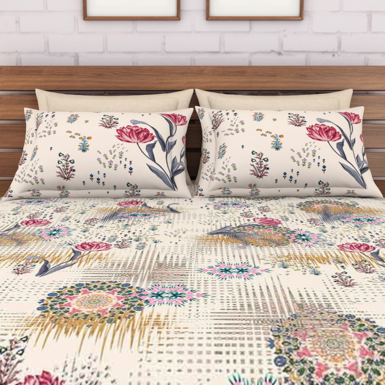 SPACES Soule Printed 5-Piece Large Bedsheet Set - 274 x 274 cm