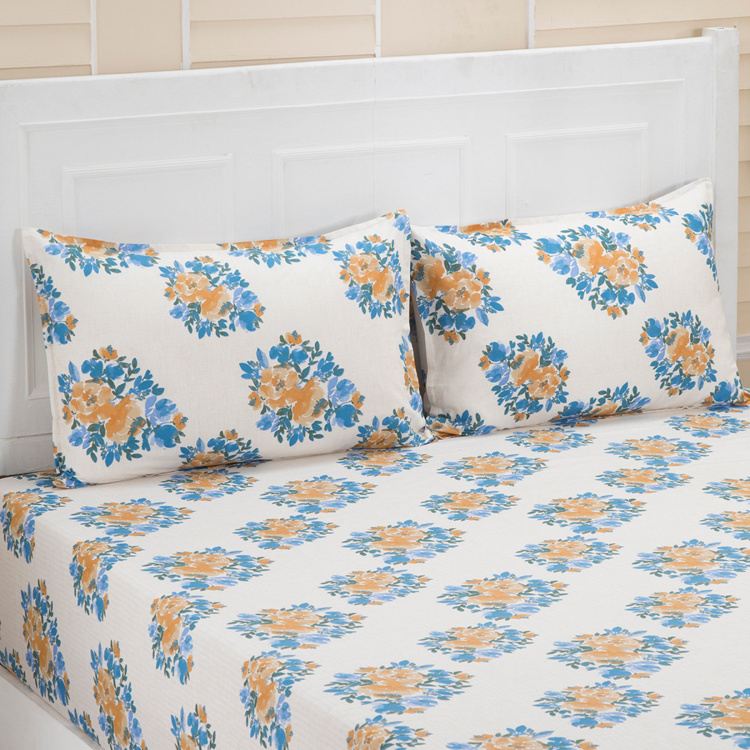 MASPAR Carin Printed 3-Pc. Double Bedsheet Set  - 224 x 275 cm