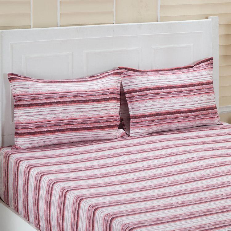 MASPAR Linea Printed 3-Pc. Double Bedsheet Set  - 224 x 275 cm