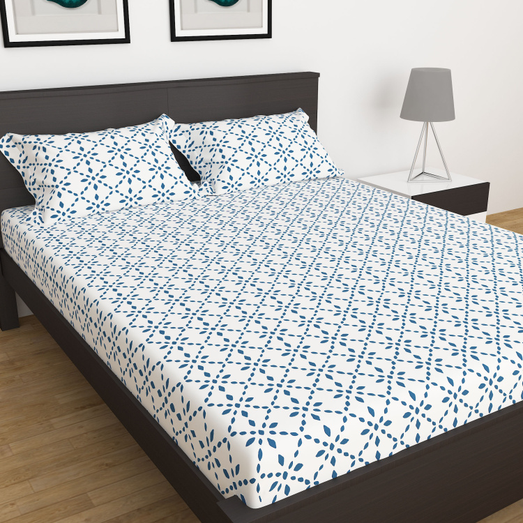 My Bedding 3-Pc. Printed King Size Fitted Bedsheet Set - 180 x 195 cm