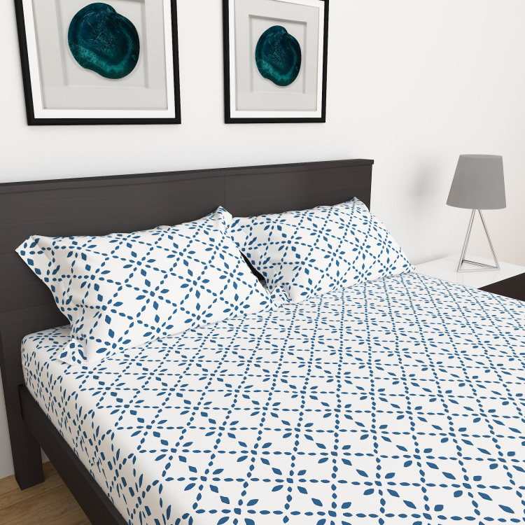 My Bedding 3-Piece Printed Double Bedsheet Set - 228 x 274 cm