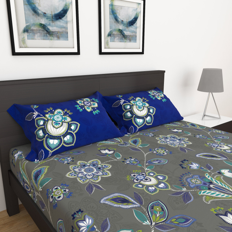 My Bedding 3-Pc. Printed Double Bedsheet Set - 254 x 274 cm
