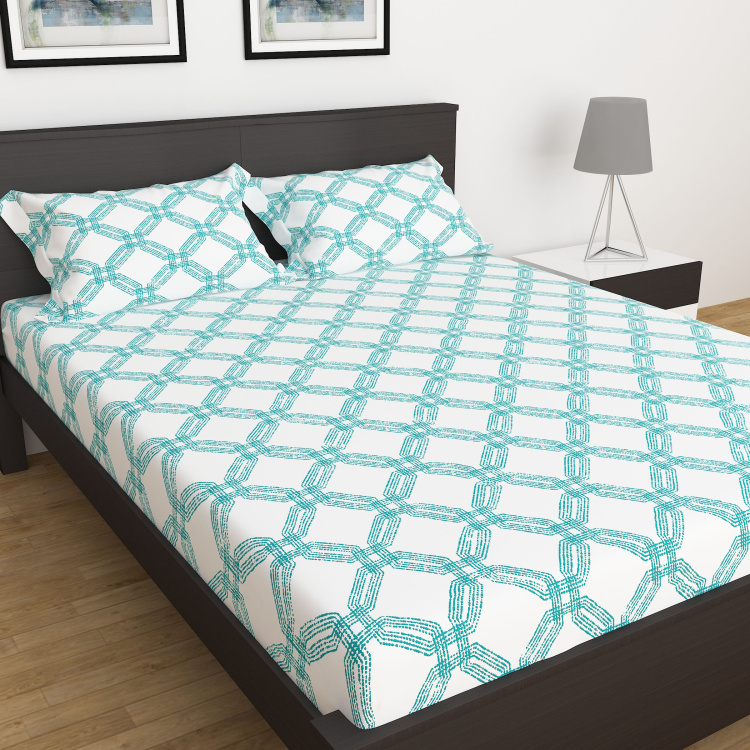 My Bedding 3-Pc. Printed Double Bedsheet Set - 228 x 274 cm