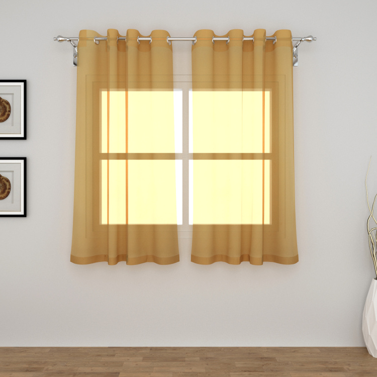 Colour Connect Solid Sheer Window Curtain Pair - 110 x 160 cm