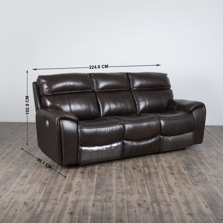 Helsinki Solid Three-Seater Electric Recliner