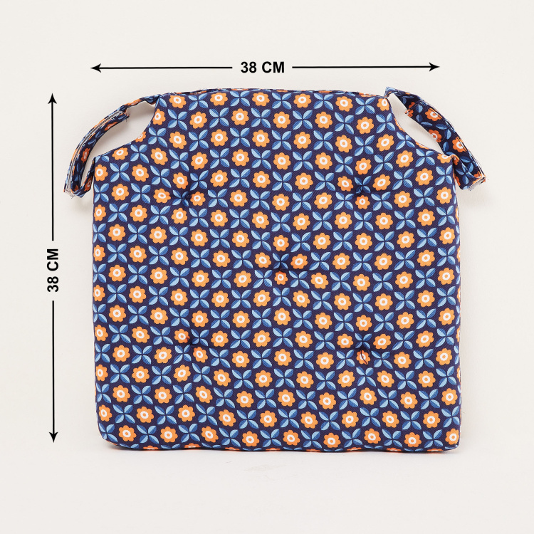 Poise Retro Printed Foam Chair Pad- 40 x 40 cm