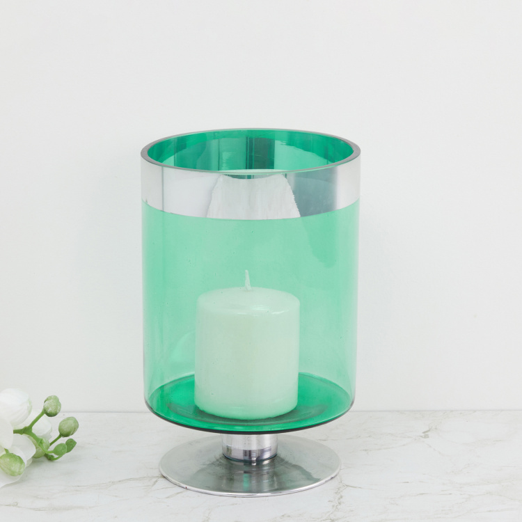 Galaxy Solid Glass Candle Holder With Rim