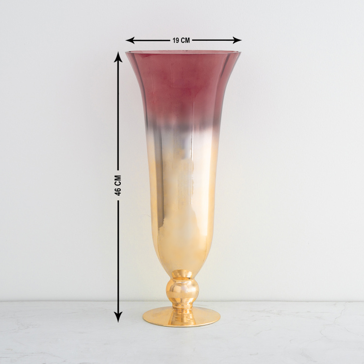 Galaxy Tapered Ombre Glass Vase