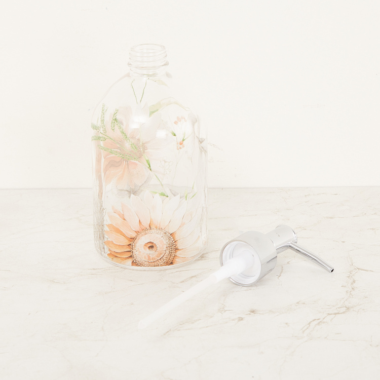 Organic Isabel Floral Print Soap Dispenser