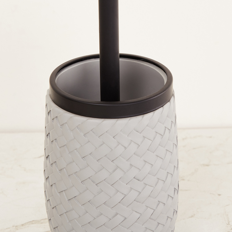 Marshmallow Polyresin Toilet Brush with Holder