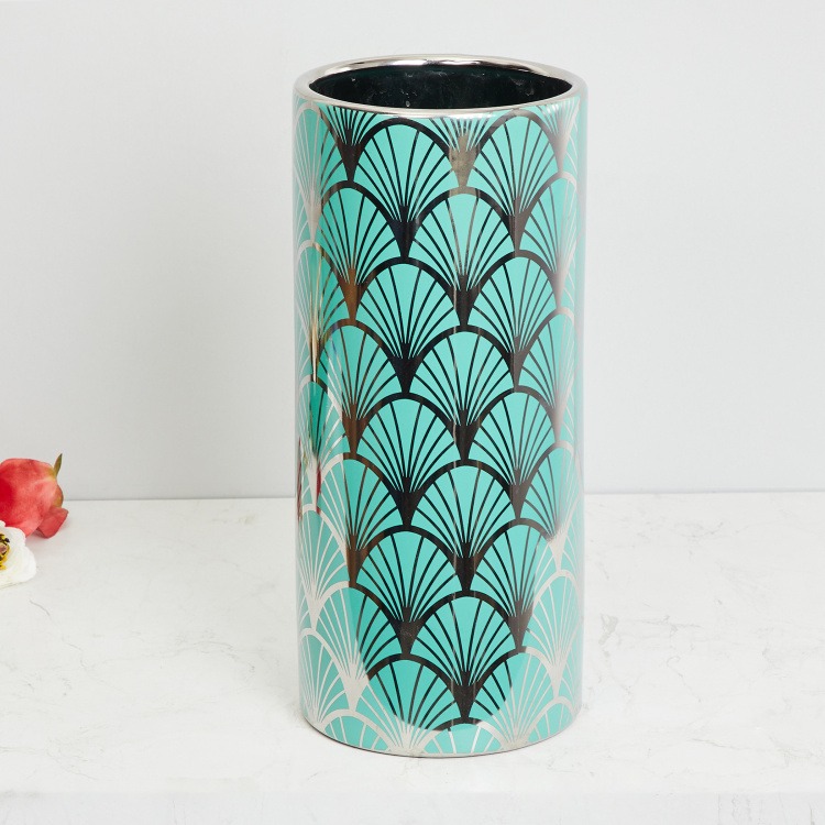 Galaxy Decal Patterned Tall Vase