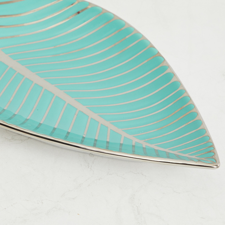 Splendid Textured Decorative Leaf Platter