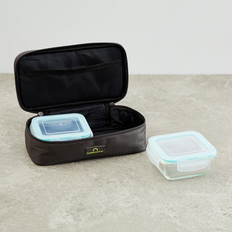 Korobka-Brooklyn 2-Piece Rectangular Food Containers with Lunch Bag - 340ml