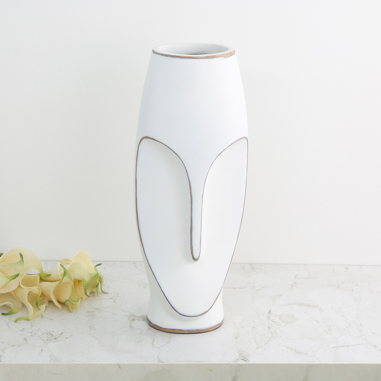 Marshmallow Face Mask-Shaped Flower Vase