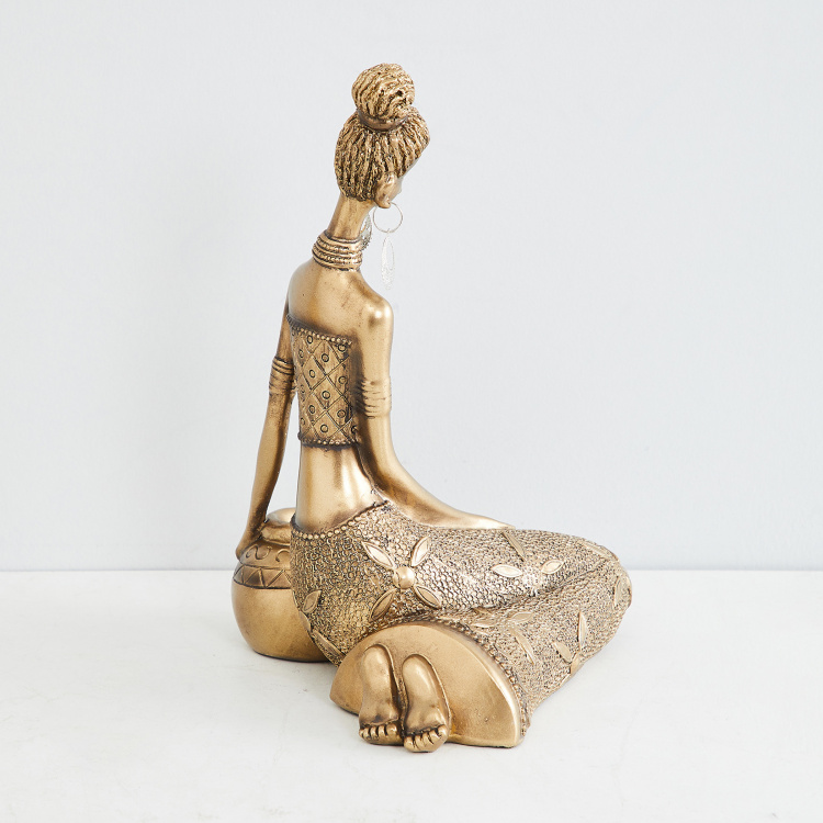 Jaguar African Sitting Lady Figurine