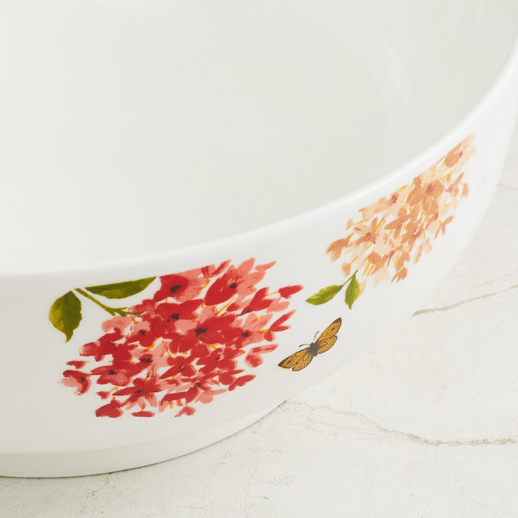 Lucas Floral Print Serving Bowl