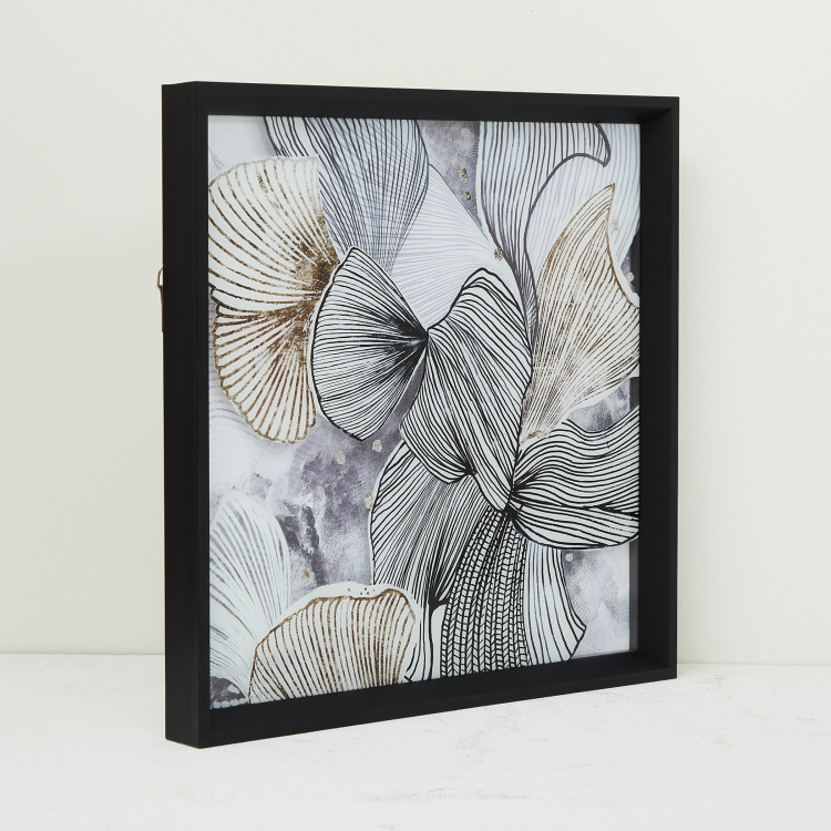 Artistry Molly Floral Mirror Glass Art Picture Frame- 40 x 40 cm