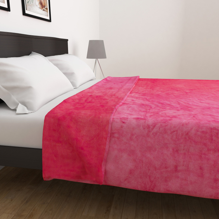 Colour Connect  Solid Double Bed Blanket - 200 x 240 cm
