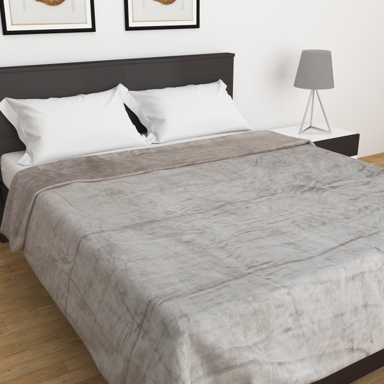 Marshmallow Solid Double Blanket - 200 x 240 cm