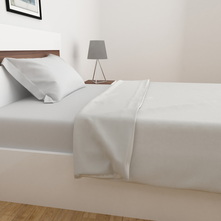 Marshmallow Solid Single-Bed Blanket - 135 x 200 cm