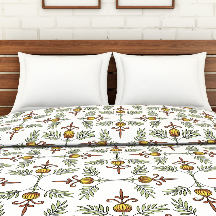 SPACES Essentials AW19 Cambric Printed Double Bed Dohar - 210 x 240 cm