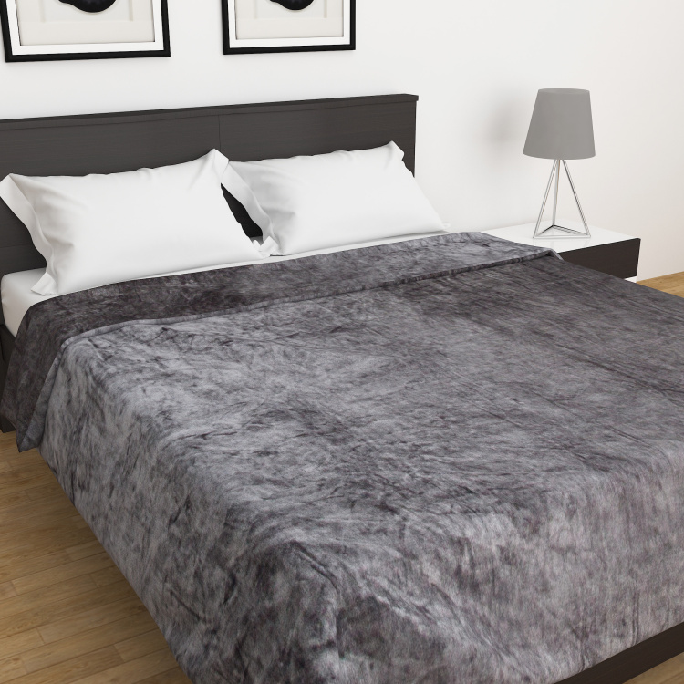 Colour Connect Textured Double-Bed Blanket - 200 x 240 cm