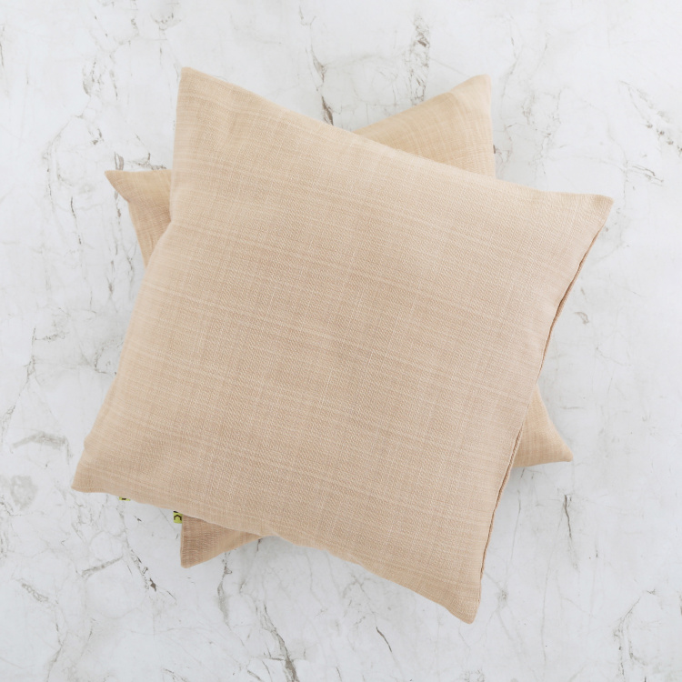 Marshmallow Textured Cushion Covers - Set of 2- 40 x 40 cm