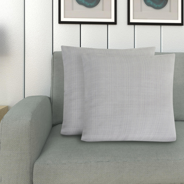 Marshmallow Textured Cushion Cover - Set of 2 Pcs -  40 x 40 cm