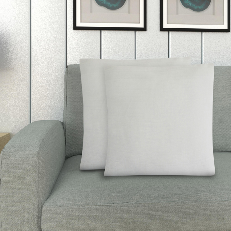 Marshmallow Textured Cushion Cover - Set of 2 - 40 x 40 cm