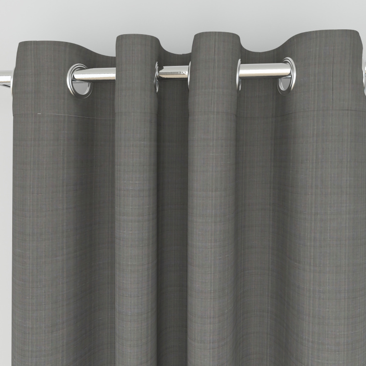 Marshmallow Textured Semi-Blackout Door Curtain - 110 x 225 cm
