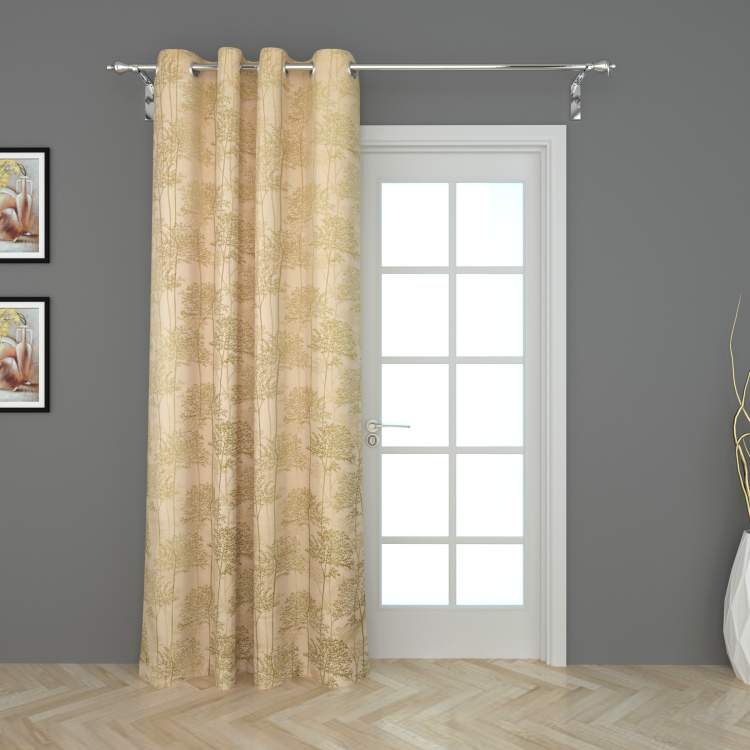 Sketch Printed Door Curtain - 110 x 225 cm