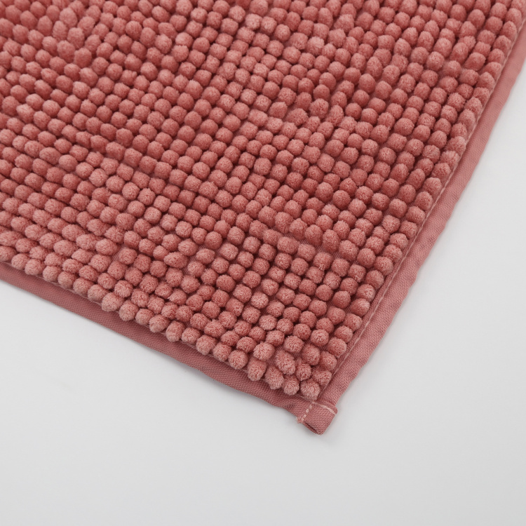 Colour Connect Textured Poppy Bathmat - 40 x 60 cm