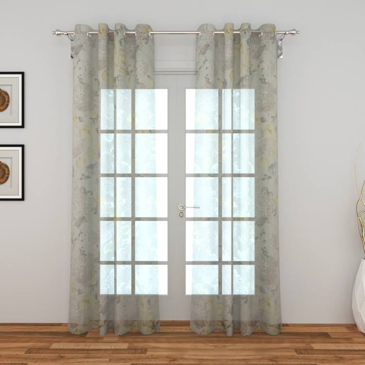Lavish Printed Sheer Door Curtain Pair - 110 x 225 cm