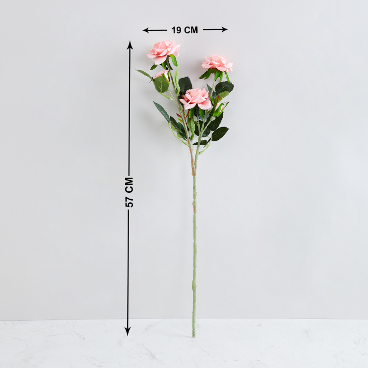 Botanical Artflower Artficial Rose Branch