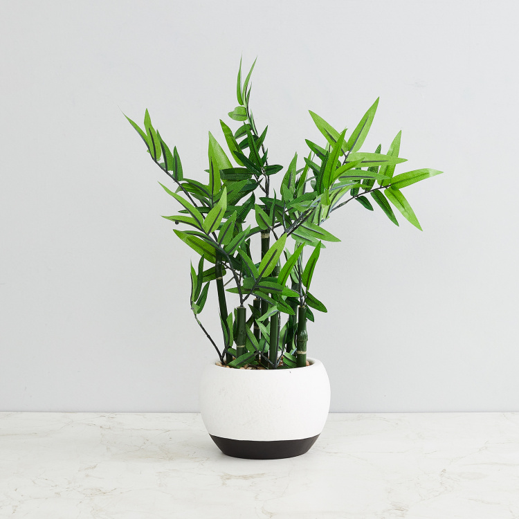Gardenia Artificial Bamboo Plant in a Ceramic Pot