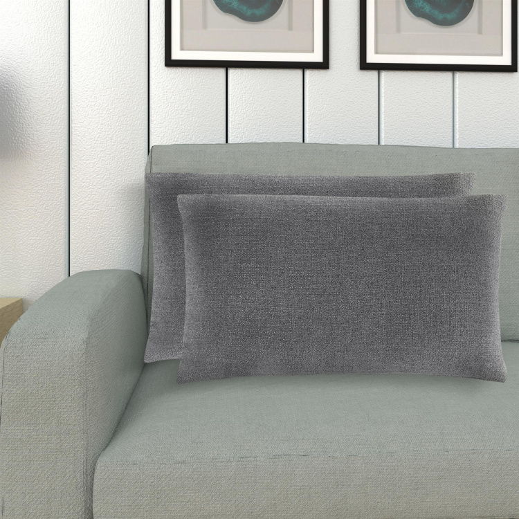 Colour Connect Plumon Textured Cushion Covers - Set of 2 - 30 x 50 cm