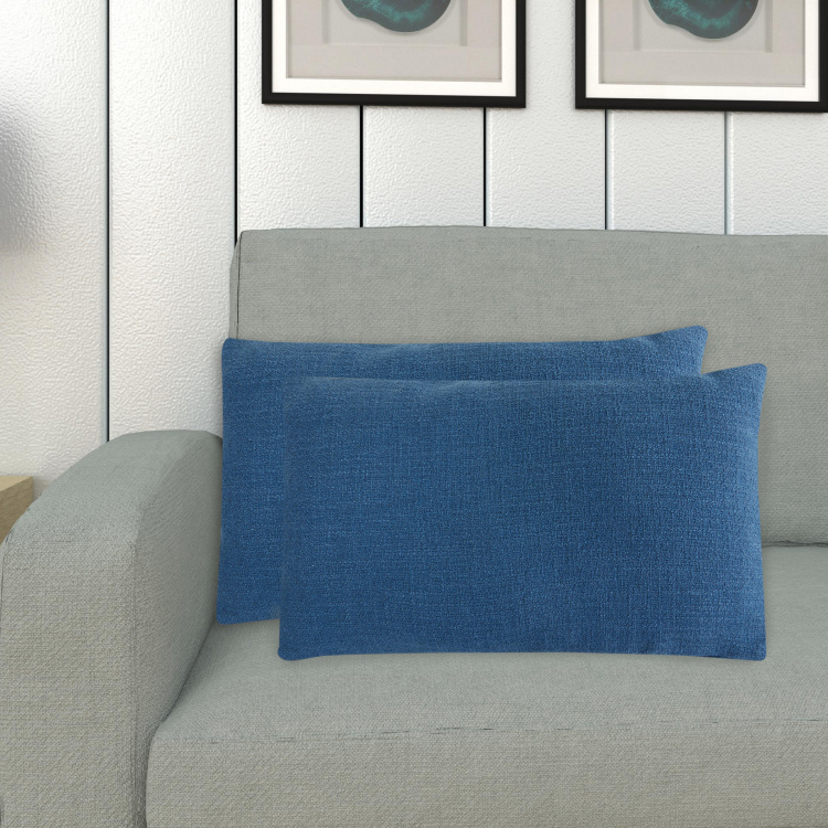 Colour Connect Solid Cushion Covers - Set of 2 - 30 x 50 cm