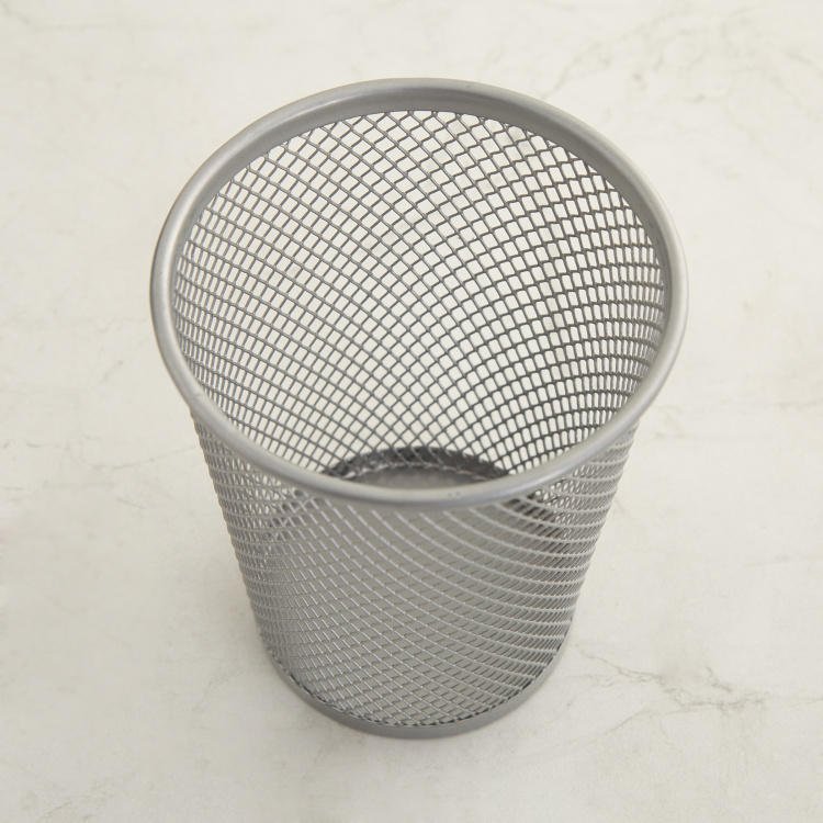 Orion Isabel  Grey Mesh Pencil Cup