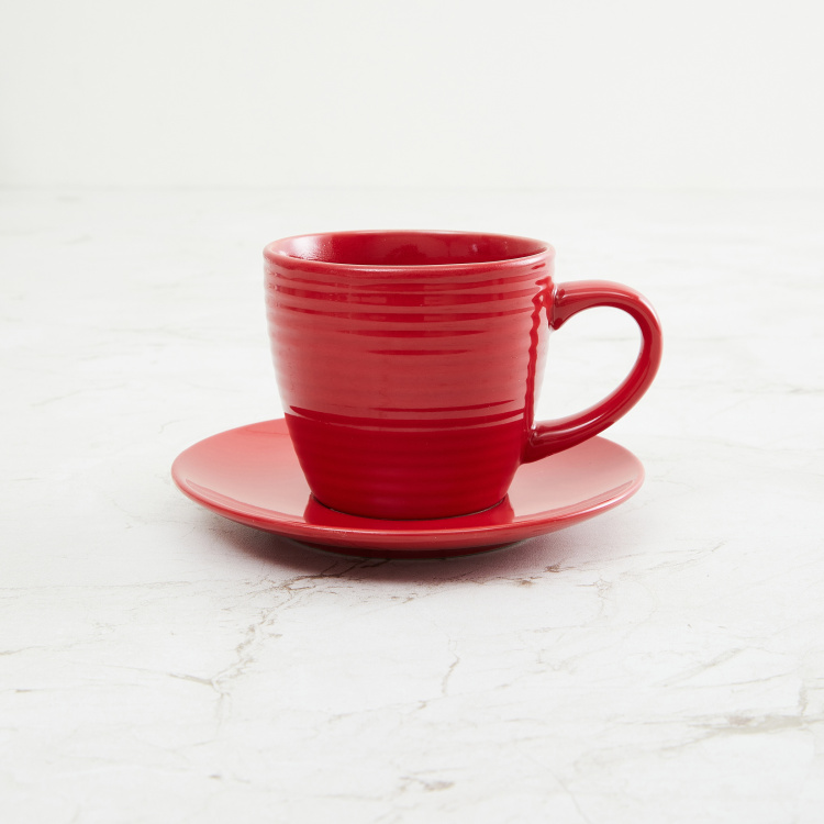 Colour Connect Solid Cup And Saucer - 220 ml
