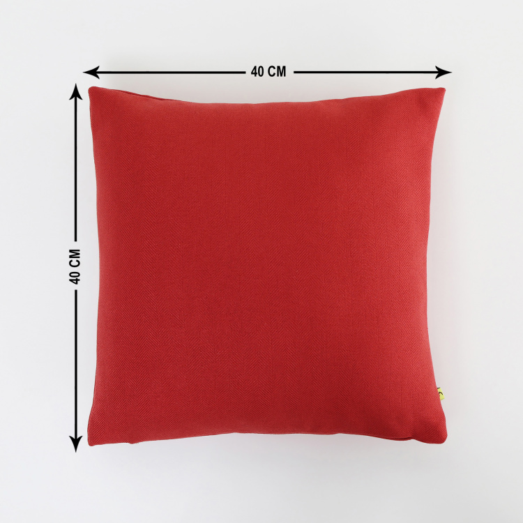My Bedding Solid Cushion Cover - Set of 2 - 40  x 40 cm