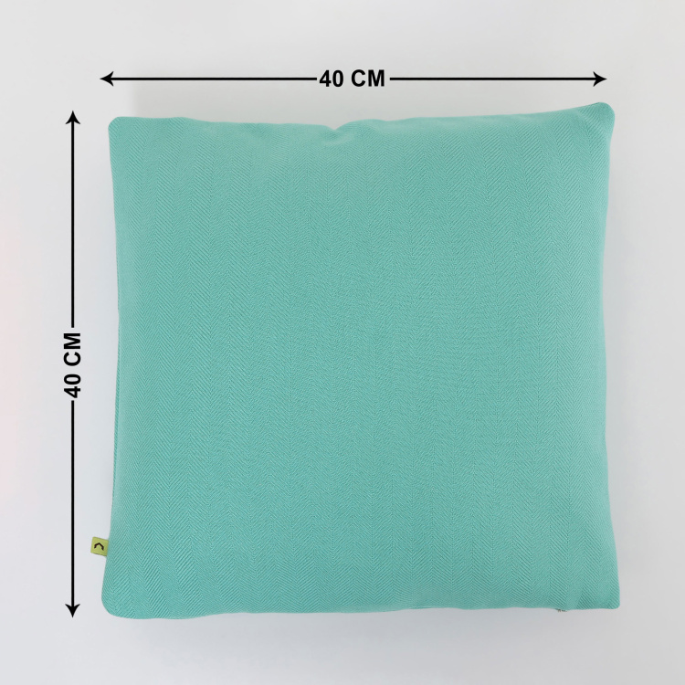 My Bedding Textured Cushion Covers - Set of 2 - 40  x 40 cm